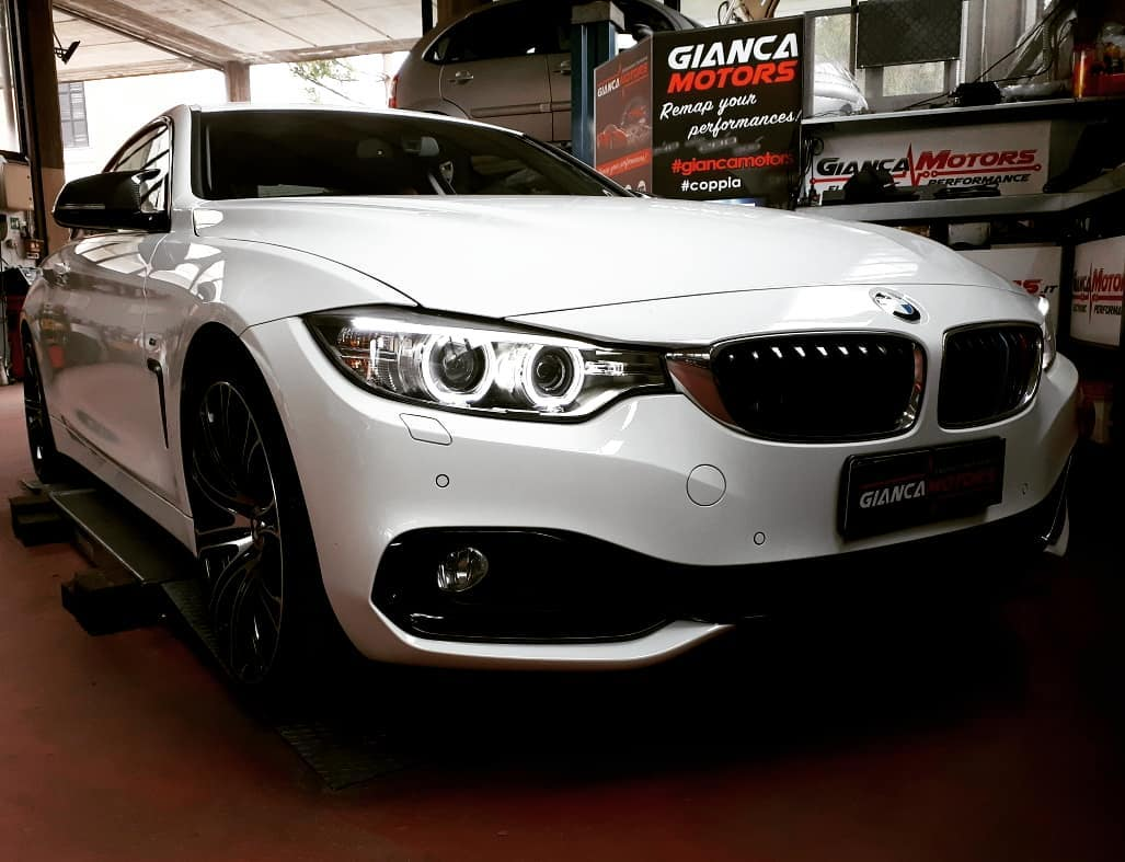 """<span class=""""light"""">RIMAPPATURA</span> CENTRALINA BMW 428i M 245cv_<br /> .<br /> ✅ Rimappatura Stage 1 by<br /> ✅ Potenza 245cv > 300cv<br /> (+55cv)<br /> ✅ Coppia 350nm > 390nm<br /> (+60nm a 5000giri)<br /> ✅ Attivazione Burble, Scoppiettii in rilascio (seguiteci per il video)<br /> ✅ Incrementi Certificati<br /> ✅ Affidabilitá al Top<br /> .<br /> Stage 1 disponibile per tutti i motori 2.0 turbo benzina BMW 20i e 28i.</p> <p>Chiptuning garantito da oltre 15 anni di esperienza e un consolidato<br /> ✅1. Diagnosi<br /> ✅2. Prova Potenza prima<br /> ✅3. Backup e Rimappatura<br /> ✅4. Prova Potenza dopo<br /> ✅5. Diagnosi & Controlli<br /> .<br /> Cosa Aspetti!<br /> Ti bastano 2 ore per migliorare la Coppia, la Potenza e diminuire i Consumi della tua BMW 418i con la Nostra rimappatura della centralina.<br /> .<br /> Scopri tutti i benefici della rimappatura centralina di Auto, Camper, Veicoli Commerciali e Moto.</p> <p>https://www.giancamotors.it/benefici-della-rimappatura/</p> <p>Per Info & Prenotazioni<br /> ☎ 389.7979552</p> <p>https://wa.me/393897979552</p> <p>✉ giancamotors@gmail.com<br /> www.giancamotors.it<br /> Siamo a Busto Arsizio (VA) a solo mezz'ora da Milano, Varese e Novara.<br /> .<br /> Aperti al SABATO fino alle 18:30!<br /> .<br /> .<br /> Riceviamo su appuntamento.<br /> .<br /> .<br /> @bmw<br /> @bmwitalia<br /> @bmwitaliaofficial<br /> .<br /> giancamotors"""