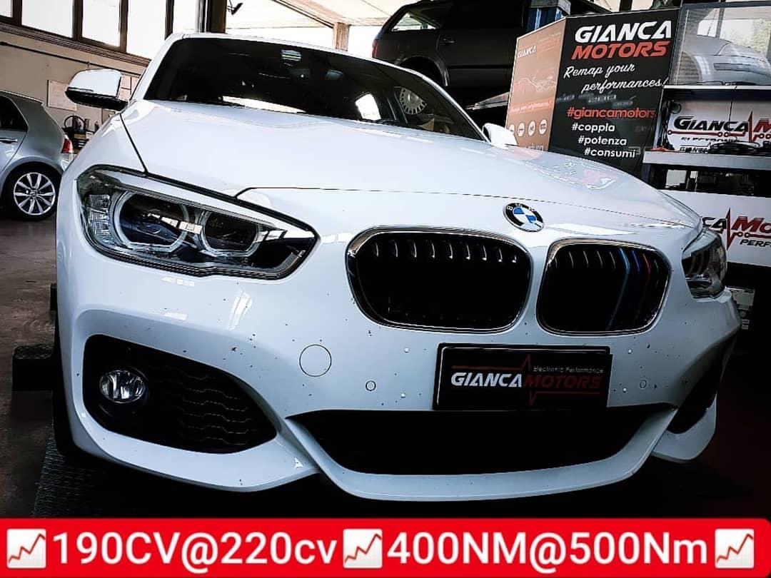 """<span class=""""light"""">RIMAPPATURA</span> CENTRALINA BMW 120d 190cv 2016_<br /> .<br /> ✅ Rimappatura Stage 1 by<br /> ✅ Potenza 188@220 +32cv<br /> ✅ Coppia 410@500 +90nm<br /> ✅ Affidabilitá al Top<br /> .<br /> Stage 1 disponibile per tutti i motori 2.0d BMW<br /> .<br /> Chiptuning garantito da oltre 15 anni di esperienza e un consolidato<br /> ✅1. Diagnosi<br /> ✅2. Prova Potenza prima<br /> ✅3. Backup e Rimappatura<br /> ✅4. Prova Potenza dopo<br /> ✅5. Diagnosi & Controlli<br /> .<br /> Cosa Aspetti!<br /> Migliora la Coppia, la Potenza e diminuisci i Consumi della tua BMW 120d con la Nostra rimappatura della centralina.<br /> .<br /> .<br /> Seleziona la Tua Auto dal Catalogo e scopri il potenziale della Rimappatura:</p> <p>https://www.giancamotors.it/catalogo/</p> <p>.<br /> .<br /> .<br /> Abbiamo attivato il SERVIZIO GRATUITO DI E vettura.<br /> .<br /> .<br /> .<br /> .<br /> Per Info & Prenotazioni<br /> ☎ 389.7979552</p> <p>https://wa.me/393897979552</p> <p>✉ giancamotors@gmail.com<br /> www.giancamotors.it<br /> Siamo a Busto Arsizio (VA) a solo mezz'ora da Milano, Varese e Novara.<br /> .<br /> Aperti al SABATO fino alle 18:30!<br /> .<br /> .<br /> Riceviamo su appuntamento"""